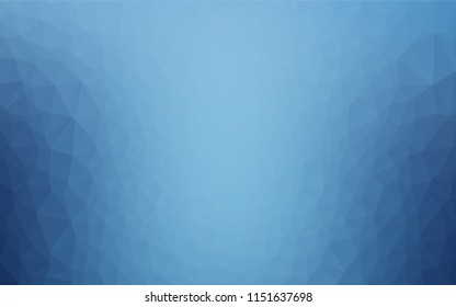 Light BLUE vector polygon abstract backdrop. Modern geometrical abstract illustration with gradient. A completely new design for your business.