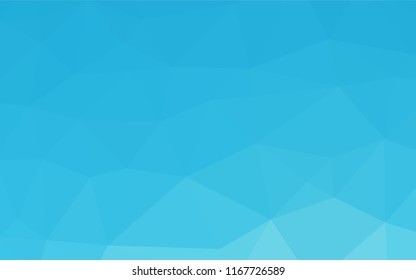 Light BLUE vector polygon abstract layout. Creative illustration in halftone style with gradient. The completely new template can be used for your brand book.