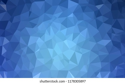 Light BLUE vector polygon abstract backdrop. A sample with polygonal shapes. Brand new style for your business design.