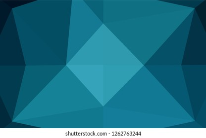 Light BLUE vector polygon abstract background. An elegant bright illustration with gradient. The elegant pattern can be used as part of a brand book.
