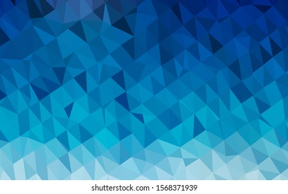Light BLUE vector polygon abstract background. A sample with polygonal shapes. The best triangular design for your business.