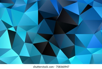 Light BLUE vector polygon abstract pattern. Creative geometric illustration in Origami style with gradient. The polygonal design can be used for your web site.