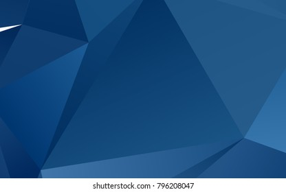 Light BLUE vector polygon abstract pattern. Creative illustration in halftone style with gradient. The polygonal design can be used for your web site.