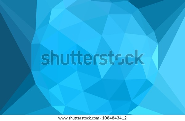 Light BLUE vector polygon abstract layout with a gem in a centre. A sample with polygonal shapes. Brand new style for your business design.