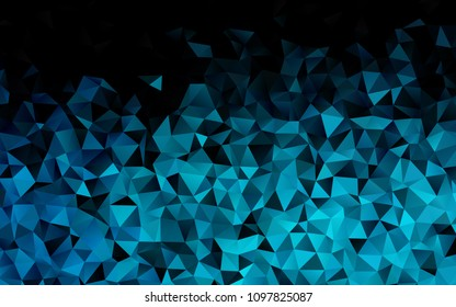 Light BLUE vector polygonal background. Shining colored illustration in a brand-new style. A completely new template for your business design.