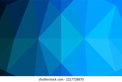 Light BLUE vector polygonal background. Colorful illustration in abstract style with gradient. A new texture for your design.