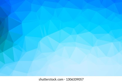 Light BLUE vector polygonal background. Geometric illustration in Origami style with gradient. Completely new design for your business.