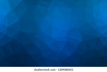 Light BLUE vector polygonal background. Modern geometrical abstract illustration with gradient. Triangular pattern for your business design.