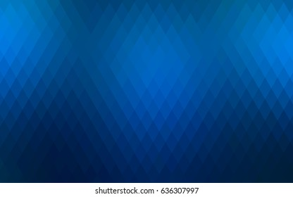 Light BLUE vector polygonal illustration consisting of rectangles. Rectangular design for your business. Creative geometric background in origami style with gradient.