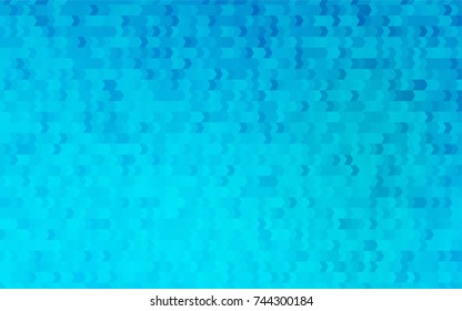 Light BLUE vector polygonal illustration, which consist of rectangles. Rectangular pattern for your business design. Geometric background in Origami style with gradient.