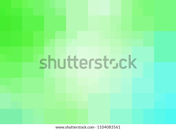 Light BLUE vector polygonal illustration, which consist of rectangles. Rectangular design for your business. Creative geometric background in Origami style with gradient