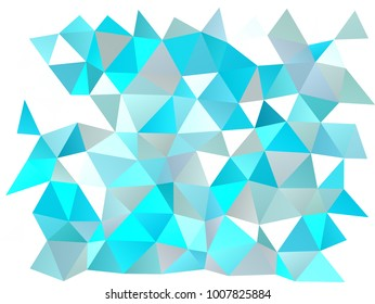 Light BLUE vector polygonal pattern. A completely new color illustration in a vague style. The textured pattern can be used for background.