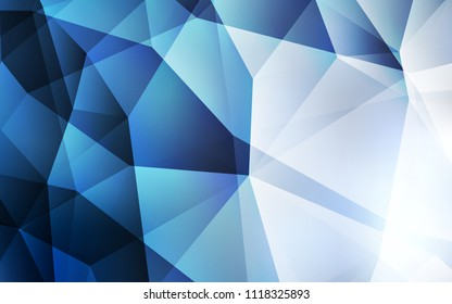 Light BLUE vector polygonal pattern. Elegant bright polygonal illustration with gradient. Template for cell phone's backgrounds.