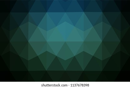 Light BLUE vector polygonal pattern. Shining polygonal illustration, which consist of triangles. Best triangular design for your business.