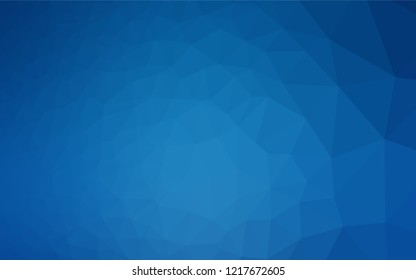 Light BLUE vector polygonal pattern. Creative illustration in halftone style with gradient. Triangular pattern for your business design.