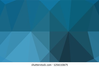 Light BLUE vector polygonal pattern. Creative illustration in halftone style with gradient. The best triangular design for your business.