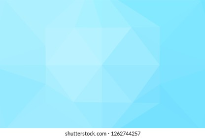 Light BLUE vector polygonal pattern. Colorful illustration in abstract style with gradient. The textured pattern can be used for background.