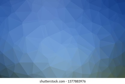 Light BLUE vector polygonal pattern. Glitter abstract illustration with an elegant design. The best triangular design for your business.