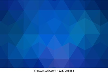 Light BLUE vector polygonal template. Creative geometric illustration in Origami style with gradient. Completely new template for your banner.