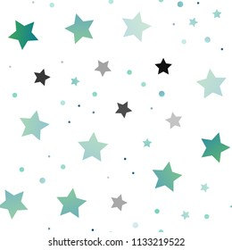 Light BLUE vector seamless template with sky stars. Decorative shining illustration with stars on abstract template. The pattern can be used for wrapping gifts.