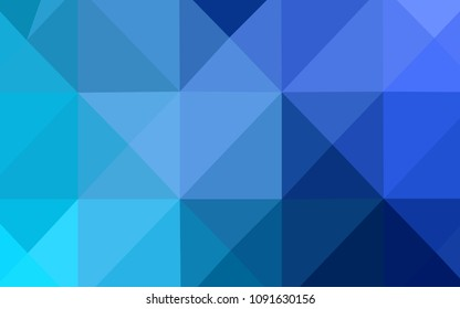 Light BLUE vector shining triangular backdrop. Glitter abstract illustration with an elegant design. That pattern can be used as a part of a brand book.