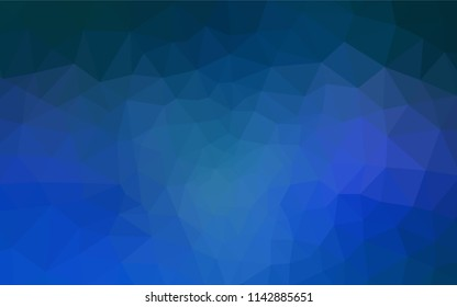 Light BLUE vector shining triangular cover. A sample with polygonal shapes. Pattern for a brand book's backdrop.