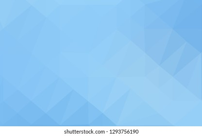Light BLUE vector shining triangular background. Glitter abstract illustration with an elegant design. Polygonal design for your web site.