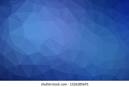 Light BLUE vector shining triangular background. A vague abstract illustration with gradient. Textured pattern for background.
