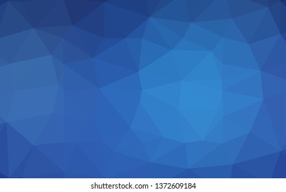 Light BLUE vector shining triangular pattern. Geometric illustration in Origami style with gradient. Brand new style for your business design.