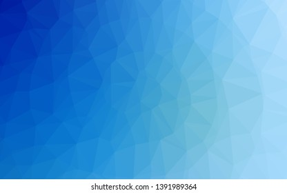 Light BLUE vector shining triangular pattern. A vague abstract illustration with gradient. Polygonal design for your web site.