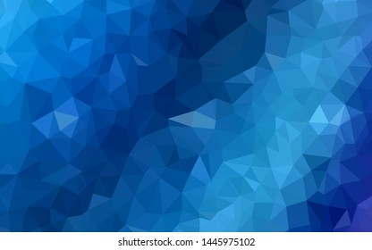 Light BLUE vector shining triangular backdrop. Shining polygonal illustration, which consist of triangles. New template for your brand book.