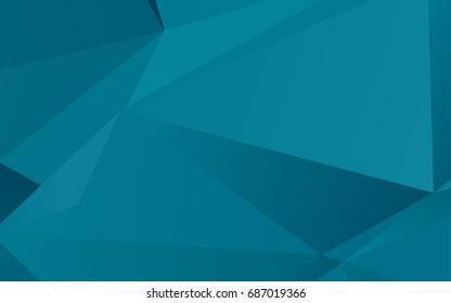 Light BLUE vector shining triangular pattern. A completely new color illustration in a vague style. Brand-new design for your business.
