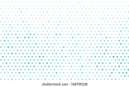 Light BLUE vector of small triangles on white background. Illustration of abstract texture of triangles. Pattern design for banner, poster, cover.