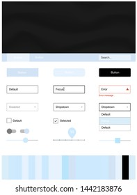 Light BLUE vector style guide with bent lines. Creative illustration in halftone marble style with gradient. Simple colorful design for websites.