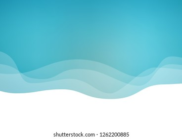 Light BLUE vector template with abstract lines. Glitter abstract illustration with wry lines. Marble design for your web site.