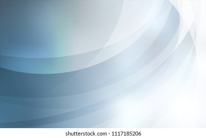 Light BLUE vector template with bent lines. Modern gradient abstract illustration with bandy lines. The template for cell phone backgrounds.