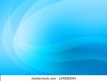 Light BLUE vector template with bent ribbons. A vague circumflex abstract illustration with gradient. Marble design for your web site.