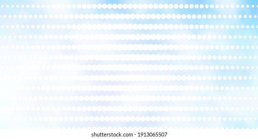 Light BLUE vector template with circles. Abstract illustration with colorful spots in nature style. Pattern for wallpapers, curtains.