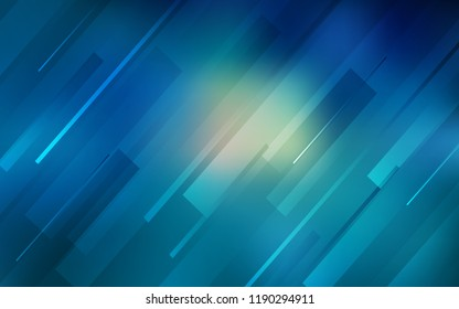 Light BLUE vector template with repeated sticks. Glitter abstract illustration with colored sticks. Template for your beautiful backgrounds.