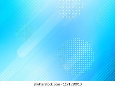 Light BLUE vector template with repeated sticks, circles. Modern geometrical abstract illustration with sticks, dots. Smart design for your business advert.