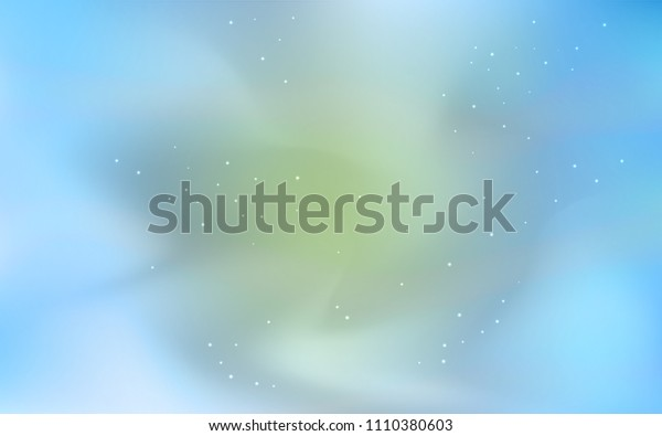 Light BLUE vector template with space stars. Glitter abstract illustration with colorful cosmic stars. Pattern for astrology websites.
