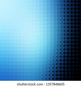 Light BLUE vector texture with circles. Abstract decorative design in gradient style with bubbles. Pattern for business ads.