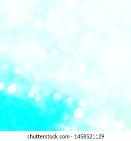 Light BLUE vector texture with circles. Colorful illustration with gradient dots in nature style. Design for posters, banners.