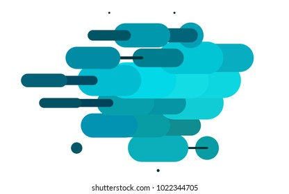 Light BLUE vector texture with colored capsules. Shining colored illustration with rounded stripes. Smart design for your business advert.