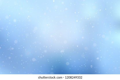 Light BLUE vector texture with colored snowflakes. Decorative shining illustration with snow on abstract template. New year design for your ad, poster, banner.