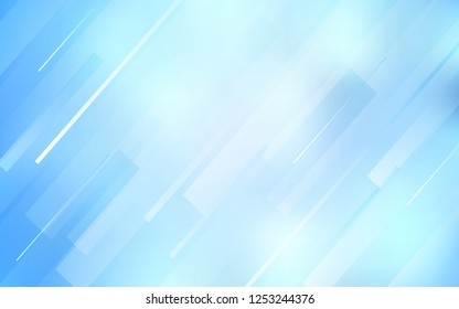 Light BLUE vector texture with colored lines. Lines on blurred abstract background with gradient. Pattern for ads, posters, banners.