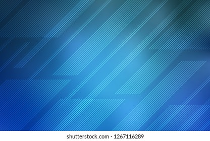 Light BLUE vector texture with colored lines. Decorative shining illustration with lines on abstract template. Template for your beautiful backgrounds.