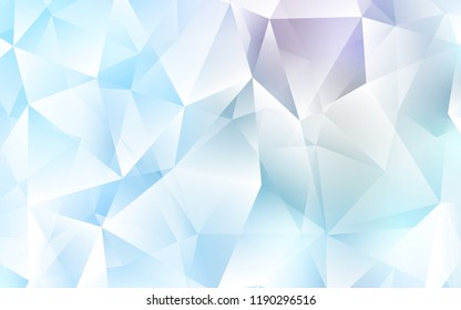 Light BLUE vector texture in triangular style. Illustration with set of colorful triangles. Modern template for your landing page.