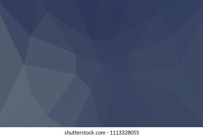 Light BLUE vector triangle mosaic texture with a diamond. A sample with polygonal shapes. Polygonal design for your web site.