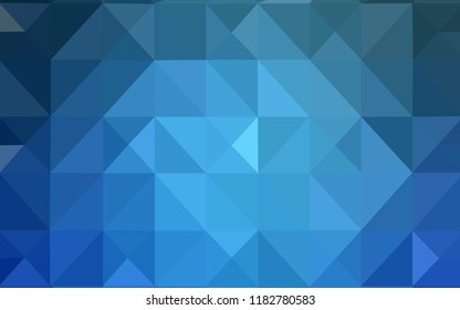 Light BLUE vector triangle mosaic texture. Colorful abstract illustration with triangles. The template for cell phone's backgrounds.